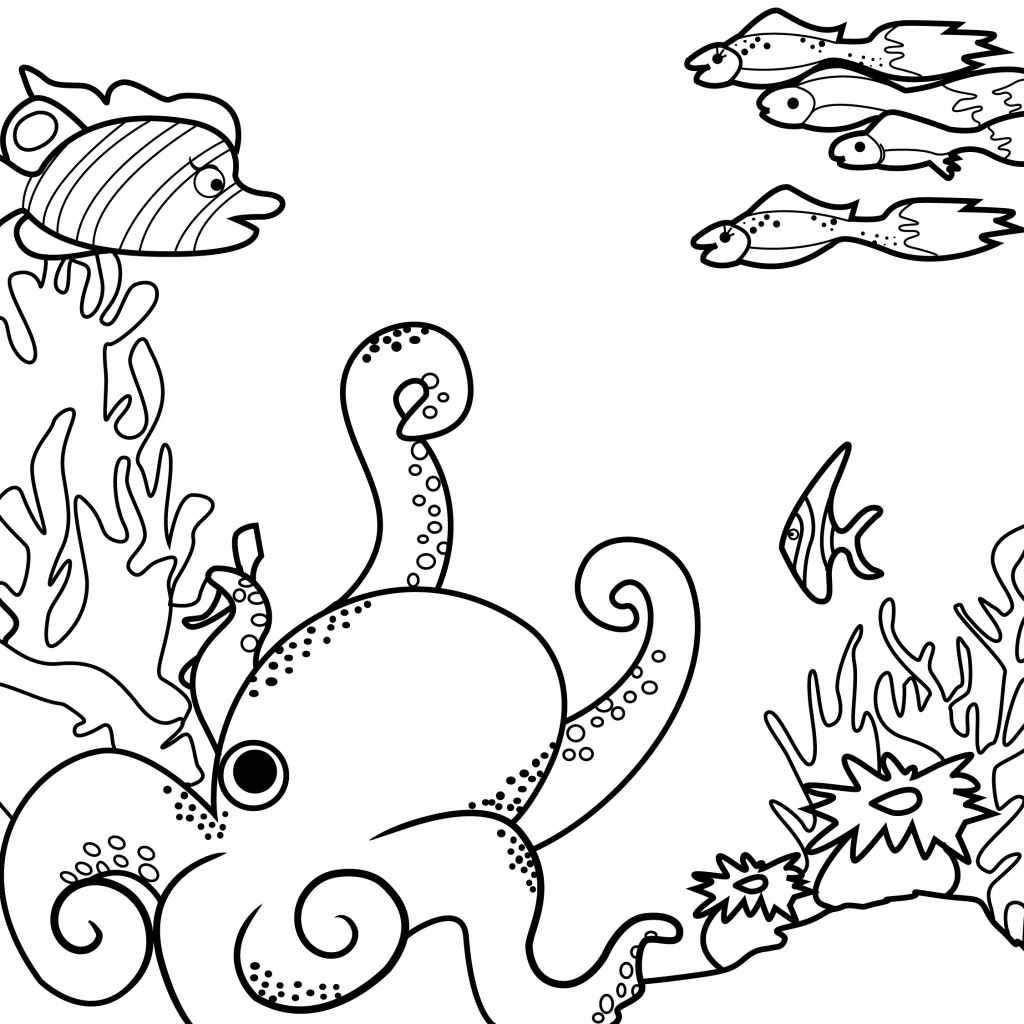 Images of Sealife Coloring Pages - Sabadaphnecottage