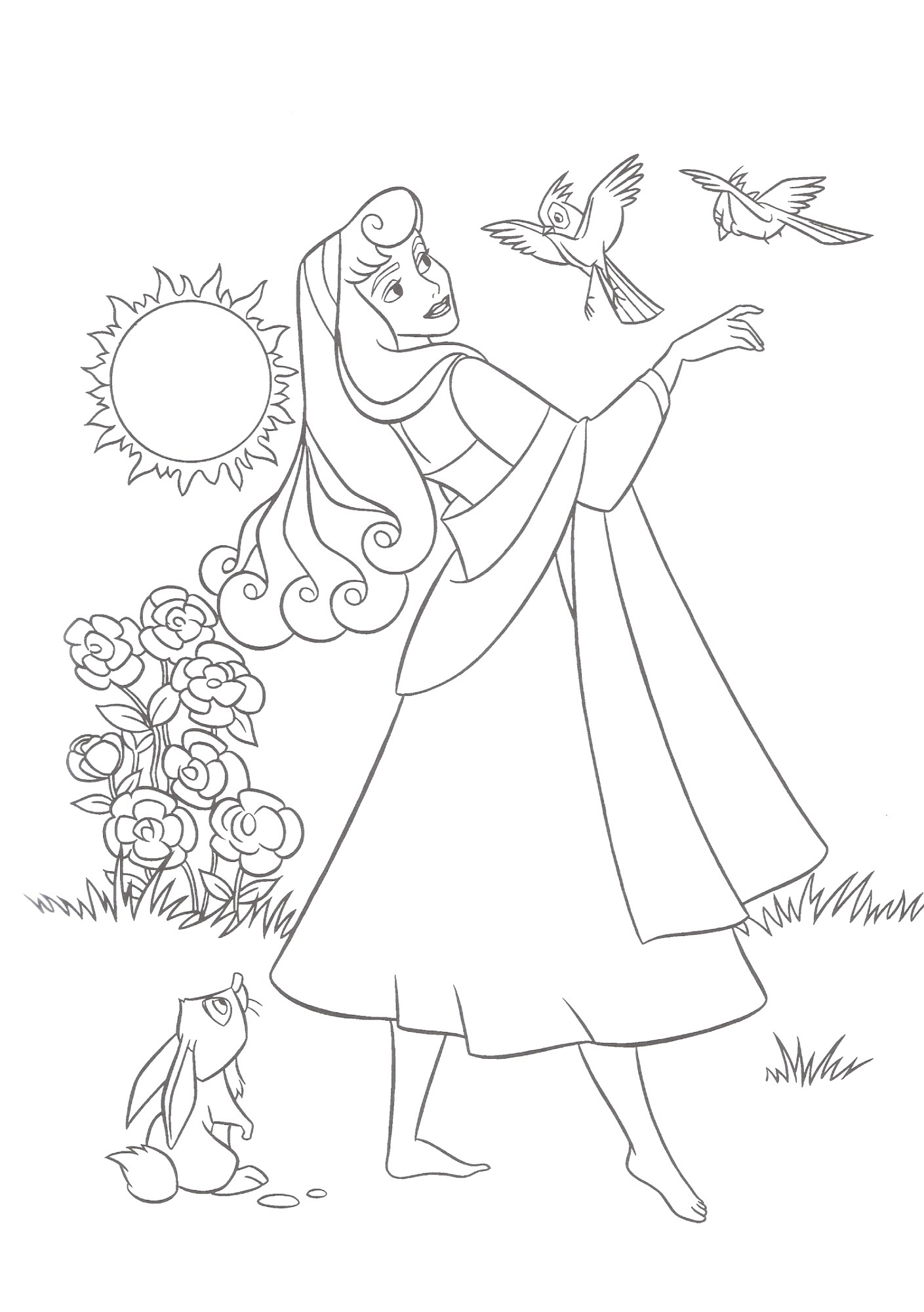 Free Sleeping Beauty Coloring Page