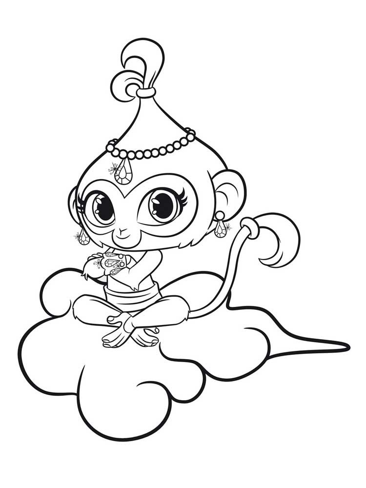 Free Tala Shimmer and Shine Coloring Pages
