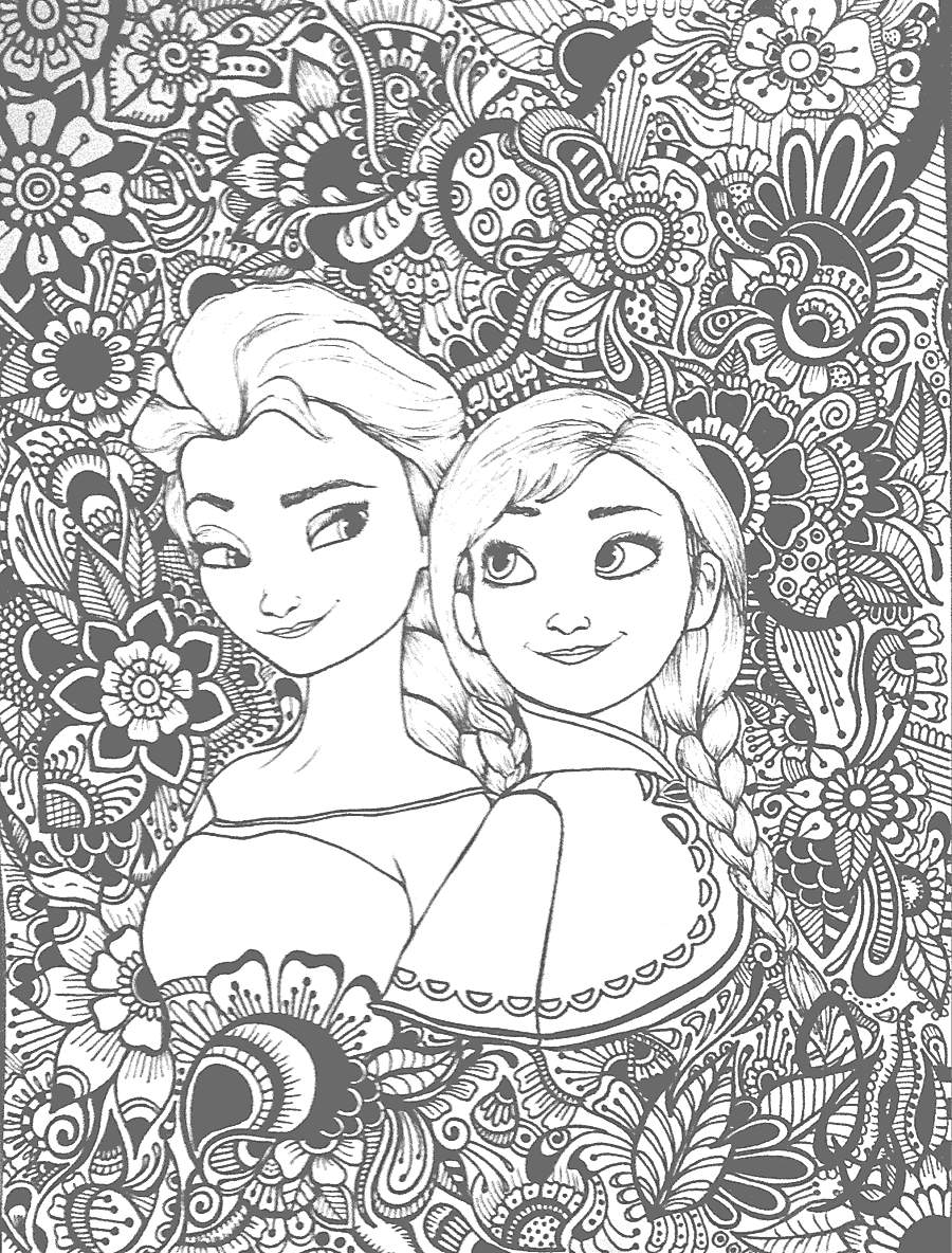 Frozen Coloring Page for Adults