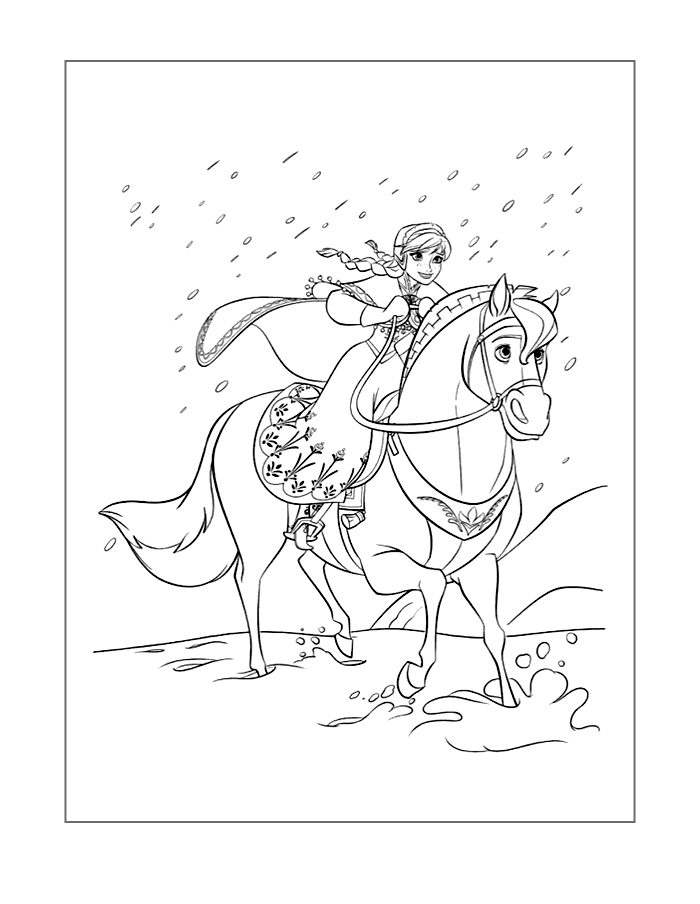 frozen-coloring-page-anna-on-horse