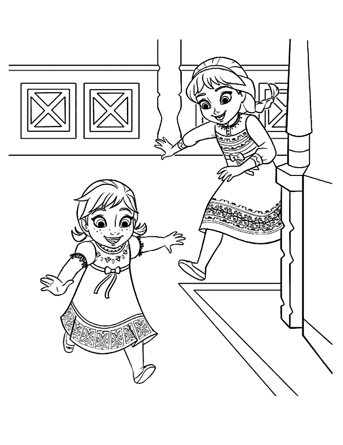 frozen-coloring-young-elsa-and-anna