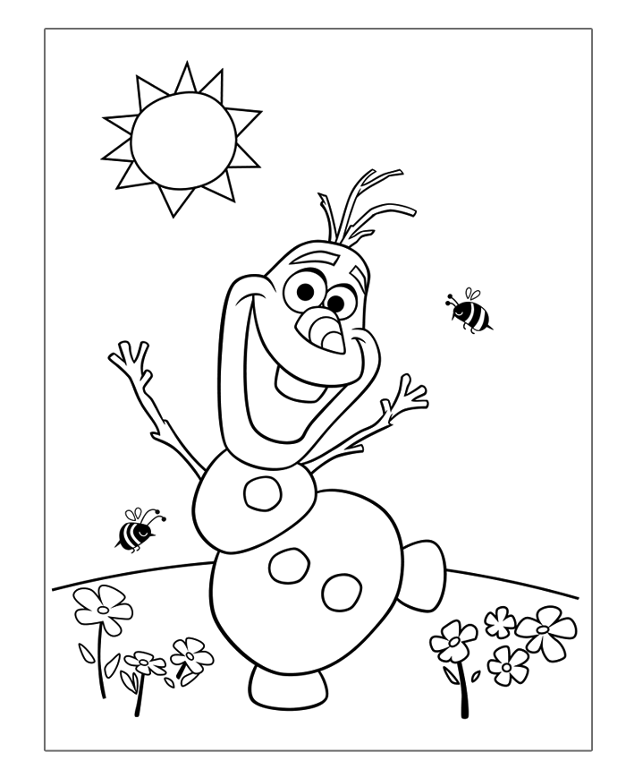 frozen-coloring-pages-olaf