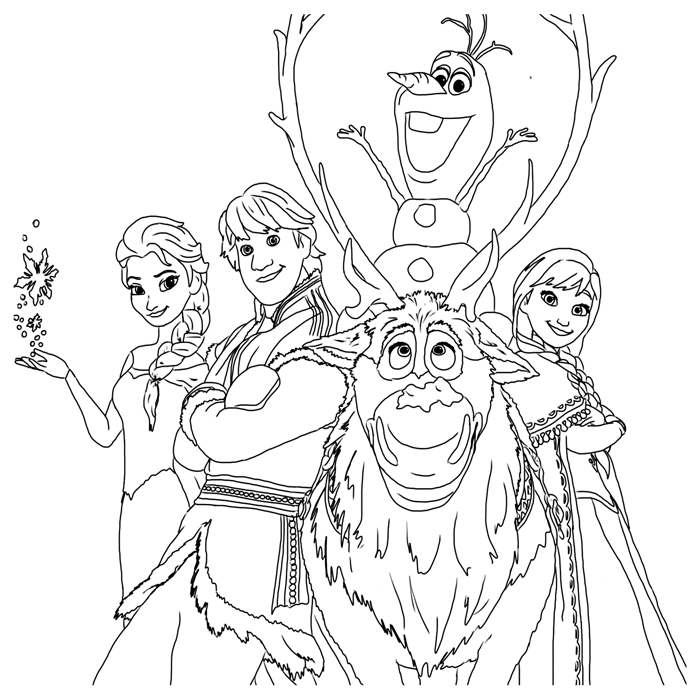 frozen-coloring-pages-the-gang