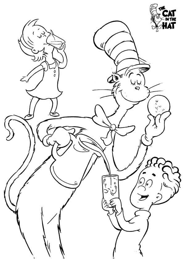 Fun Cat in the Hat Coloring Pages