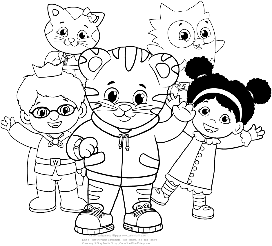 Fun Daniel Tiger Character Coloring Pages