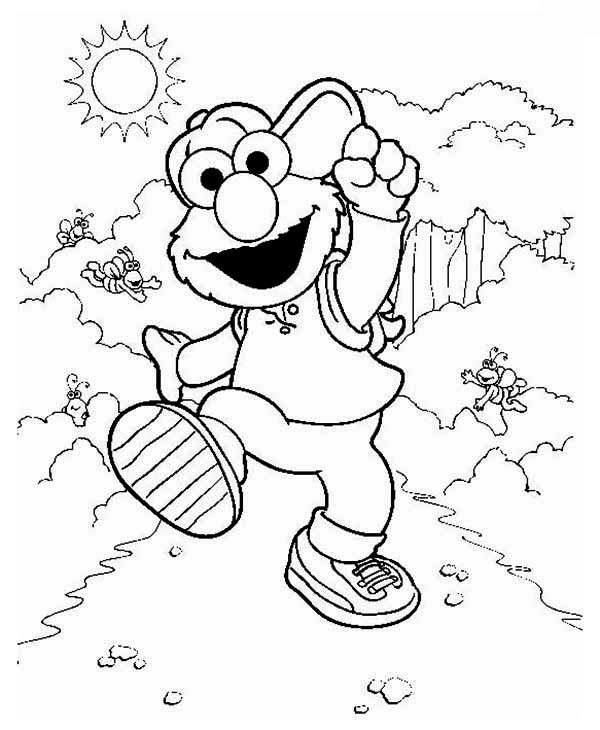 Fun Elmo Sesame Street Coloring Pages