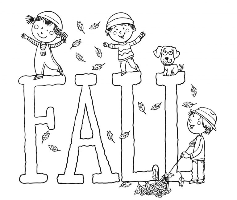 Fun Fall Coloring Pages Free