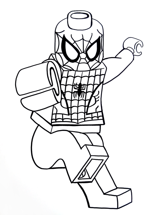 9100 Coloring Pages Spiderman Lego Pictures