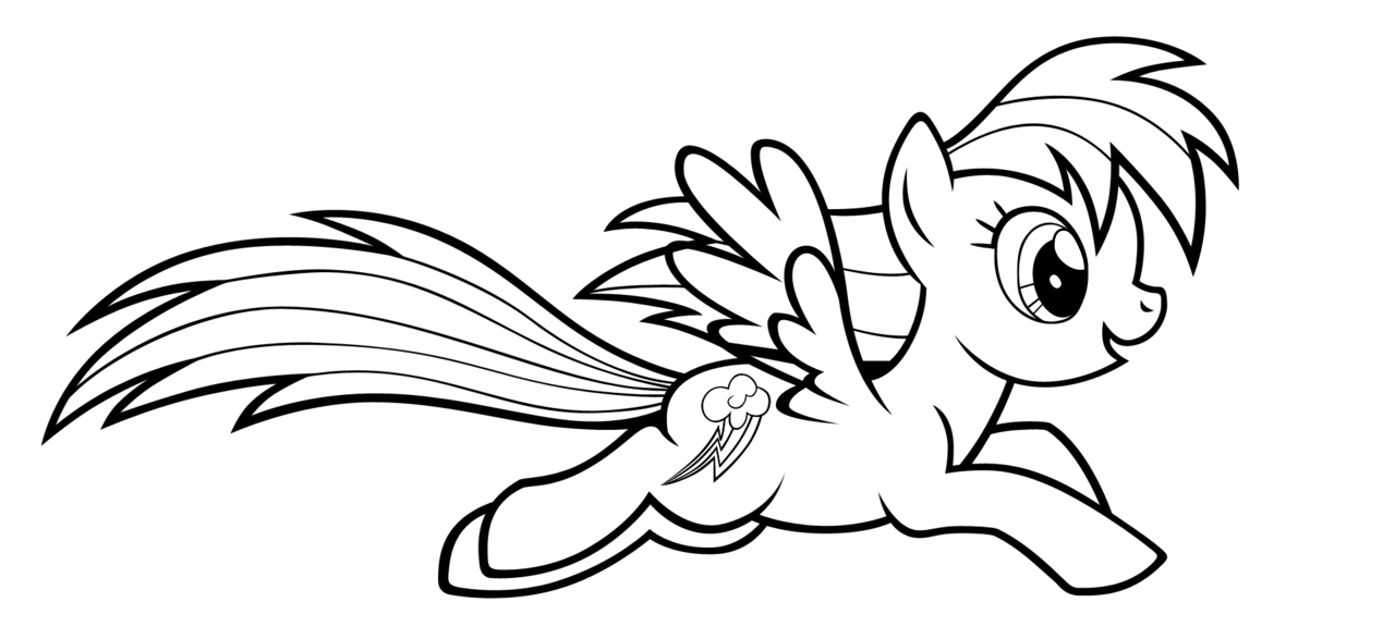 Fun Rainbow Dash Coloring Pages
