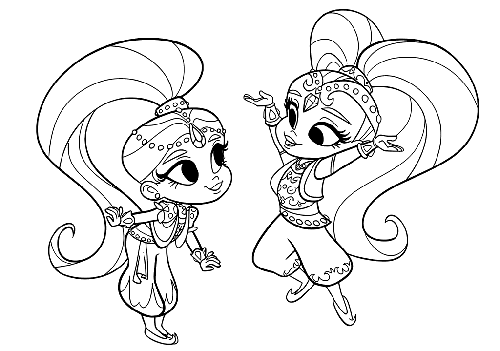 Fun Shimmer and Shine Coloring Pages