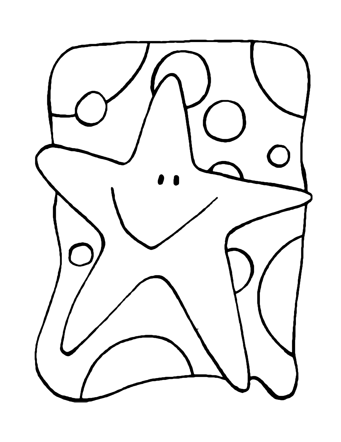 Fun Star Coloring Page