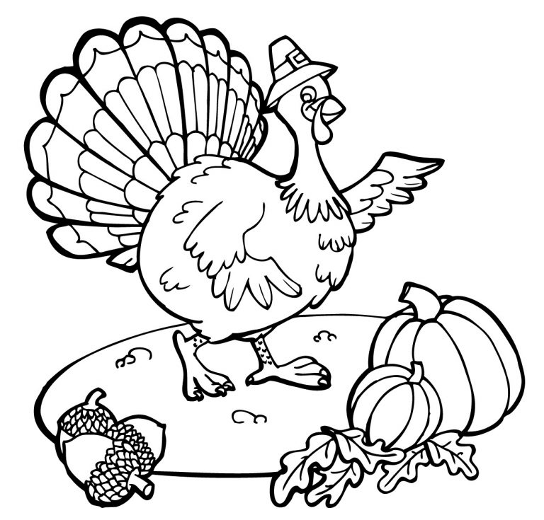 Fun Turkey Thanksgiving Coloring Pages