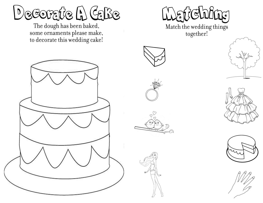 Fun Wedding Activity Sheet