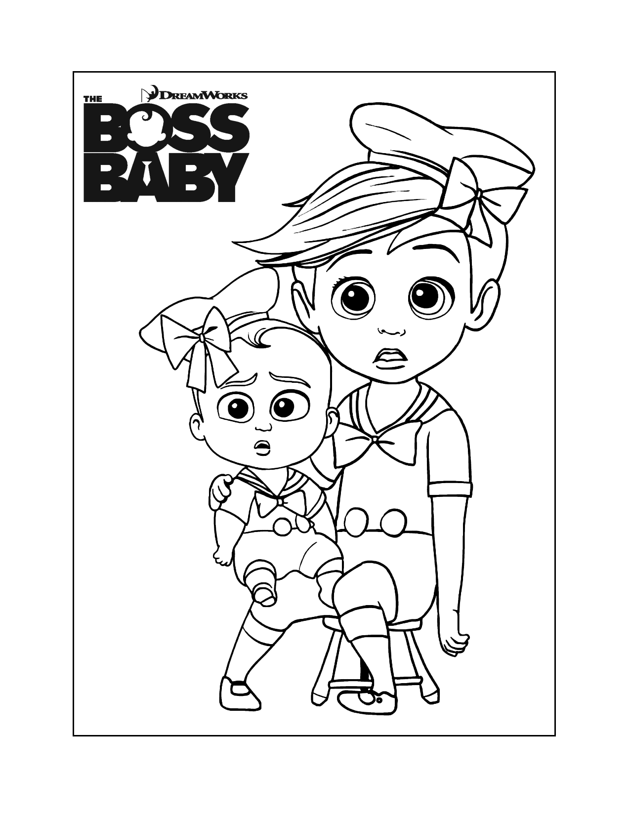 Funny Boss Baby Coloring Pages