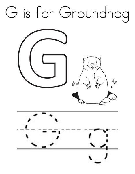 G is for Groundhog Worksheet