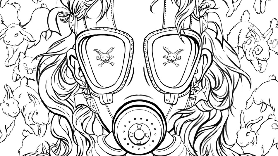 Gas Mask Cool Coloring Pages