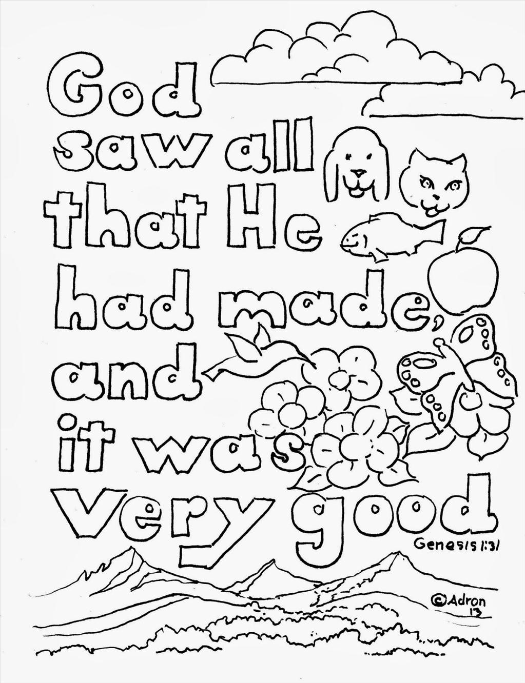 Genesis - Bible Coloring Pages