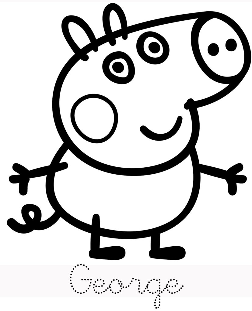 George Peppa Pig Coloring Pages