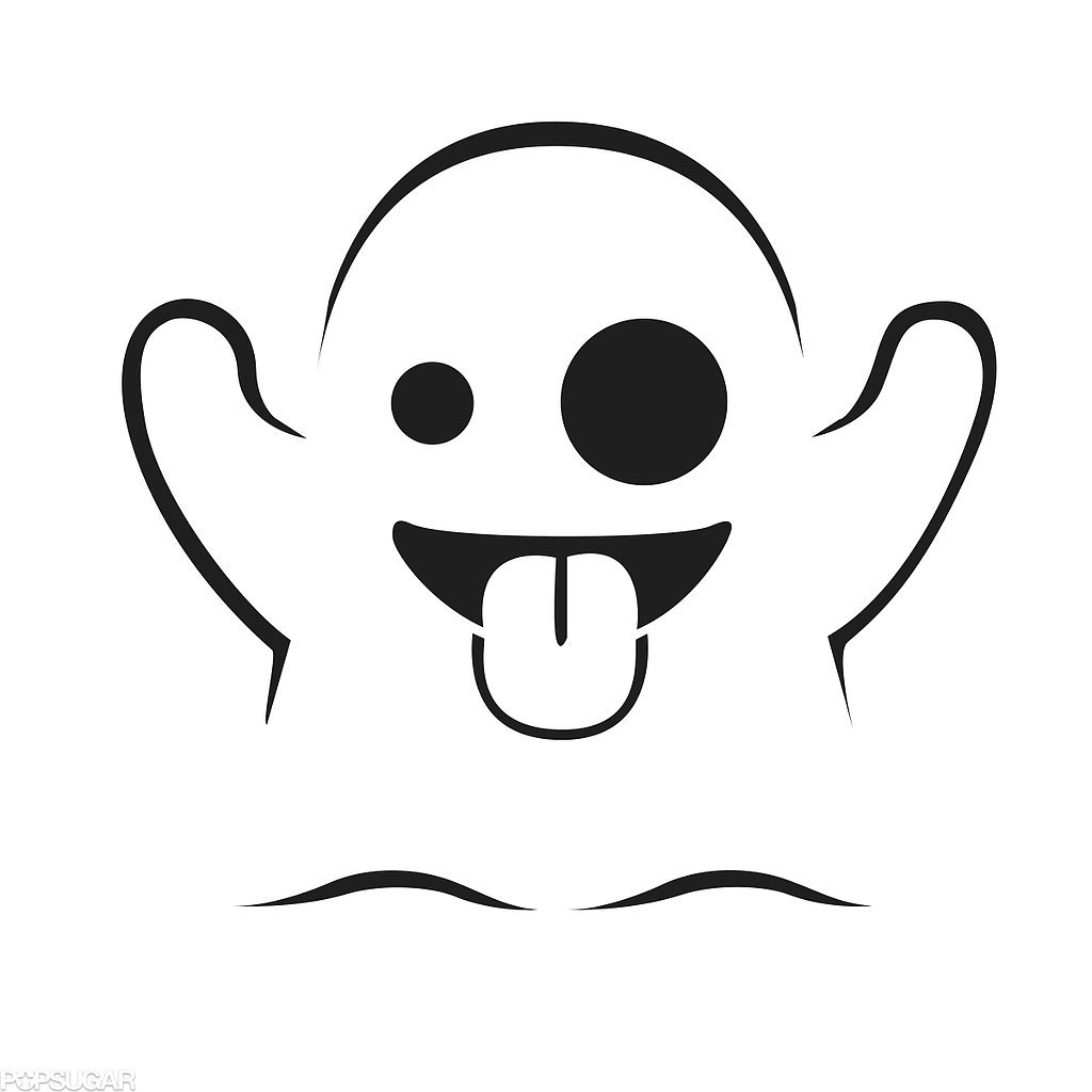 Ghost Emoji Printable Coloring Page