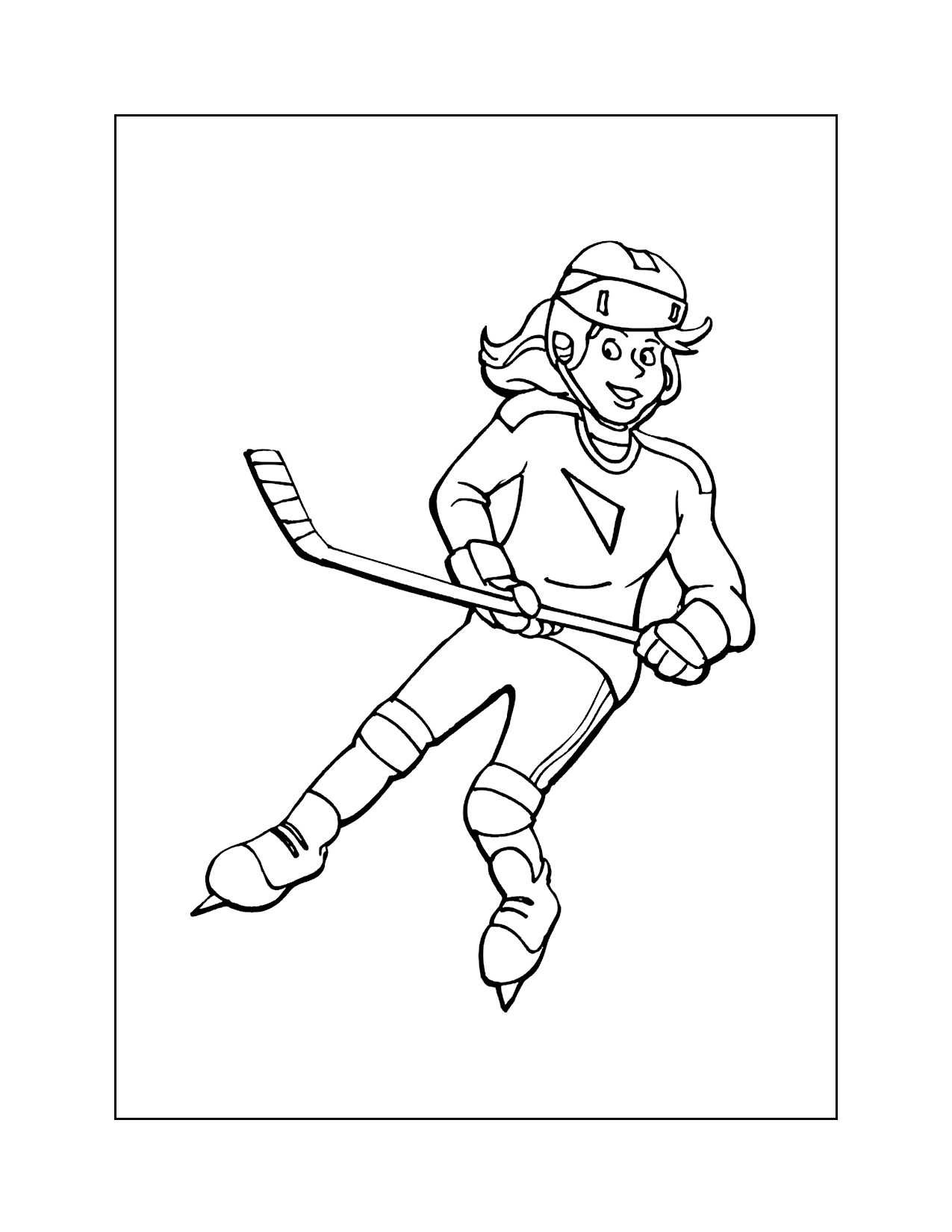 Girls Hockey Coloring Pages