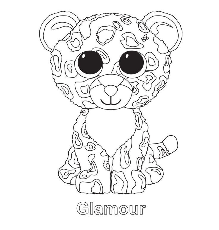 Glamour - Beanie Boo Coloring Pages