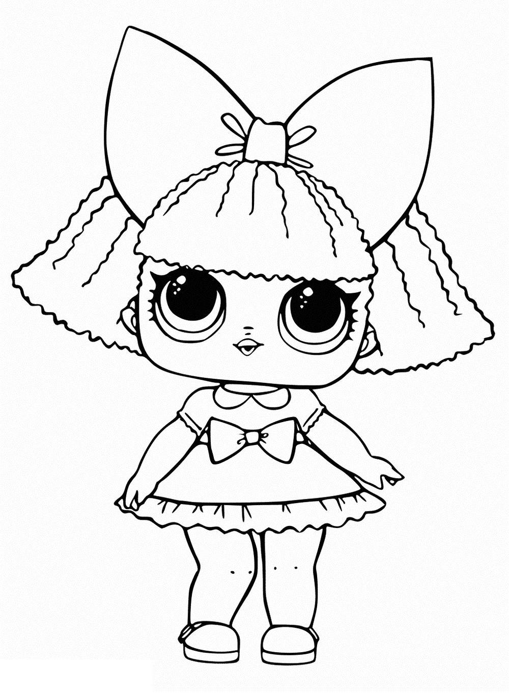 Glitter Queen LOL Dolls Coloring Pages
