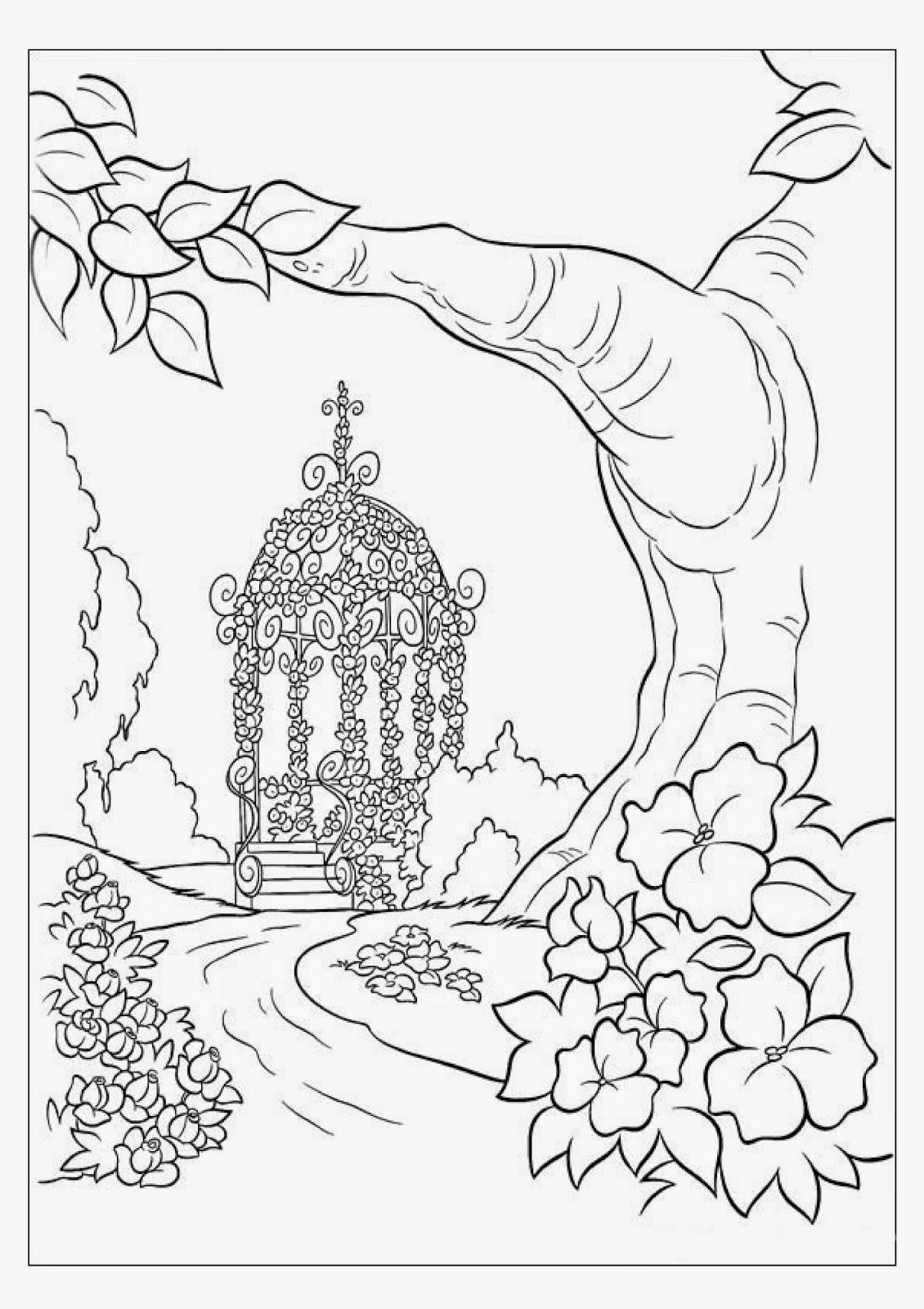 Gorgeous Wedding Gazebo Coloring Page