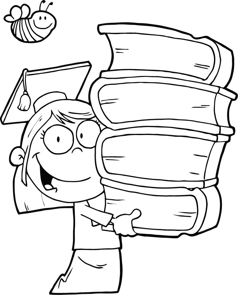 Graduation Kindergarten Coloring Pages