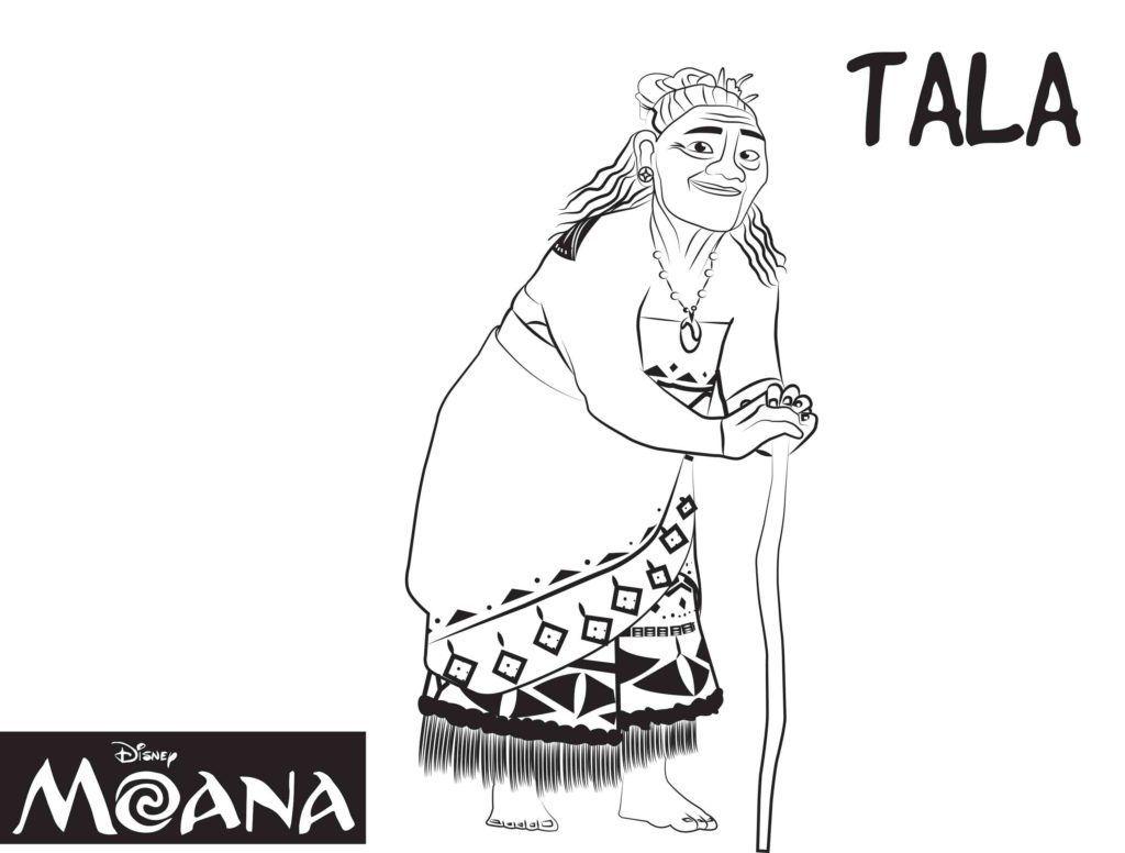 Gramma Tala Moana Coloring Pages