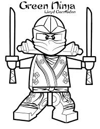 Green Ninja - Ninjago Coloring Pages