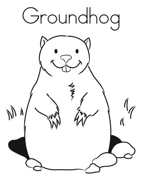Groundhog Coloring Printable