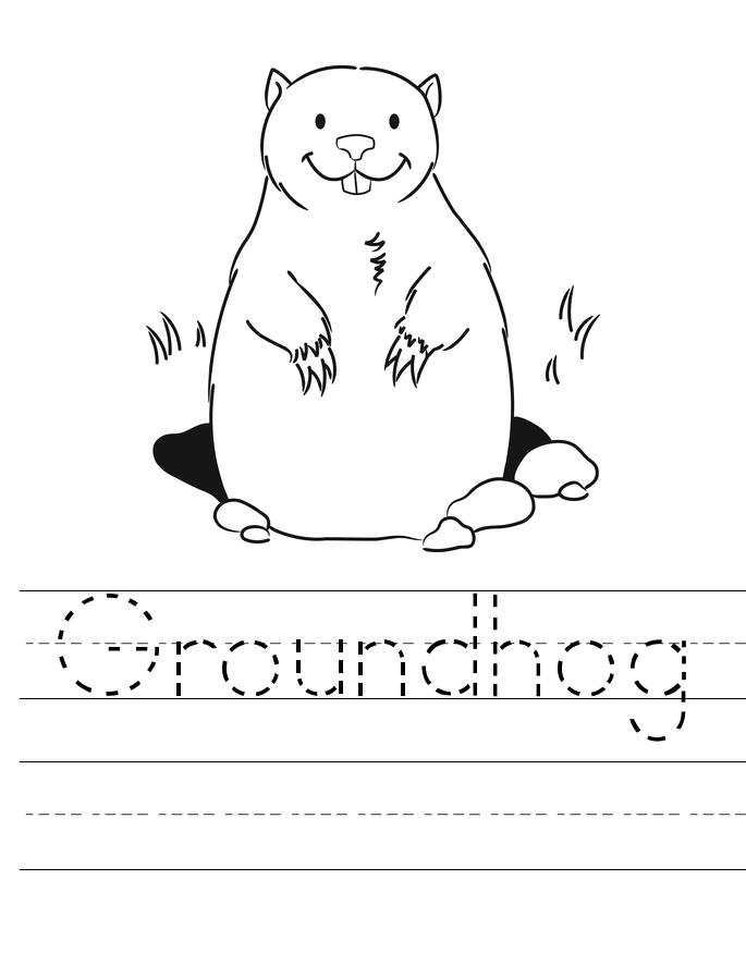 Groundhog Tracing Worksheet