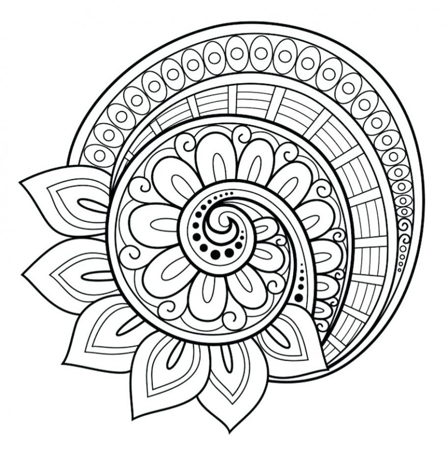 Flower Mandala Coloring Pages Coloring Rocks