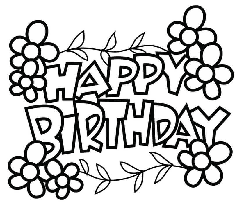 Happy Birthday Coloring Pages | coloring.rocks!