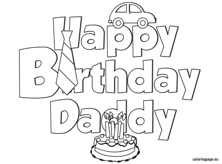 Happy Birthday Coloring Pages – Coloring.rocks!