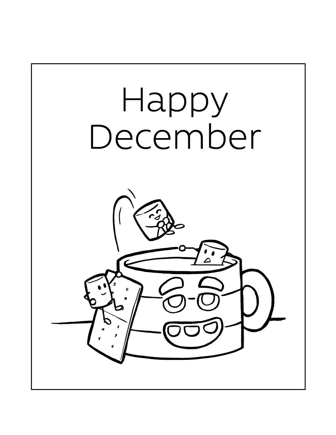 Happy December Coloring Pages