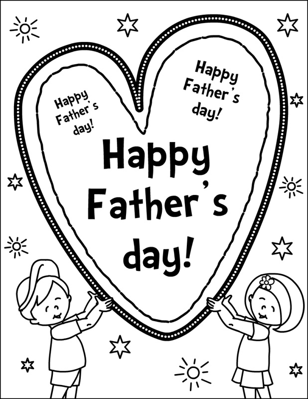 Happy Fathers Day from Kids Coloring