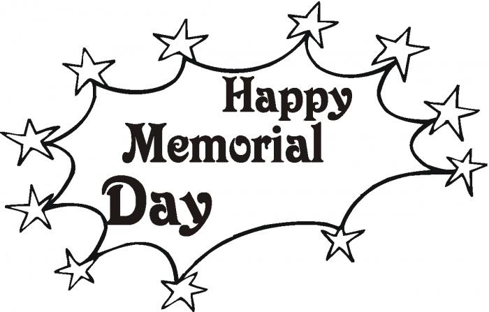 Happy Memorial Day Coloring page