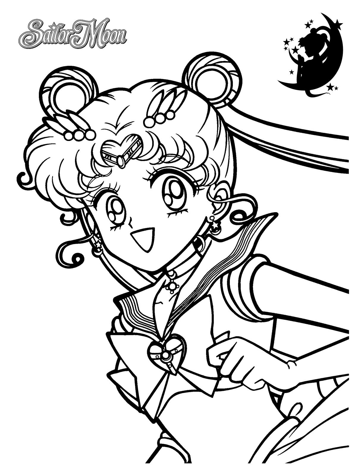 Happy Sailor Moon Coloring Page Coloring Rocks