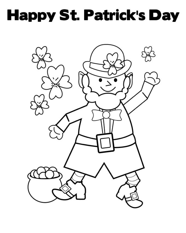 Happy St Patricks Day Coloring Pages