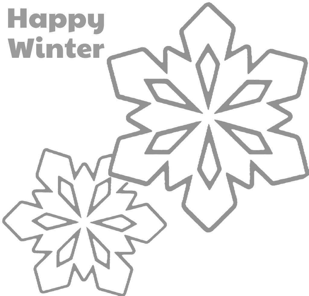 Happy Winter Snowflake Tracing Sheet