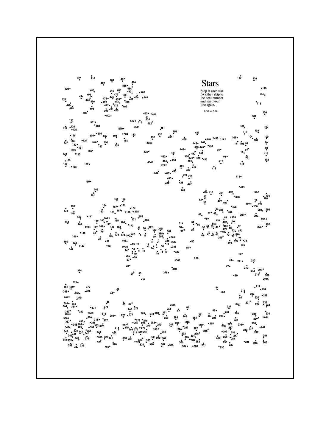 Hard Dot To Dot Printable