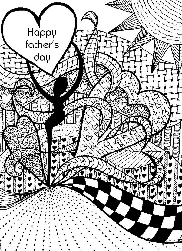 Hard Fathers Day Coloring Pages