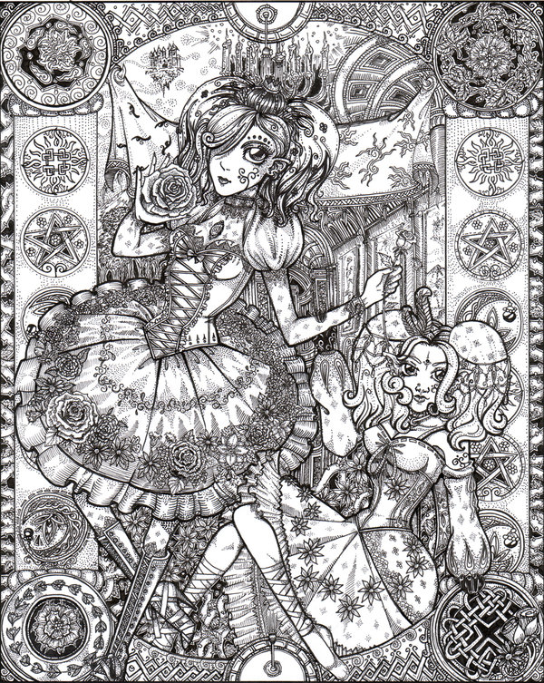 Hard Gothic Fairy Coloring Pages