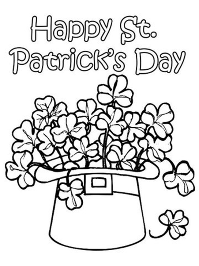 Hat O shamrock - St Patricks Day Coloring Pages