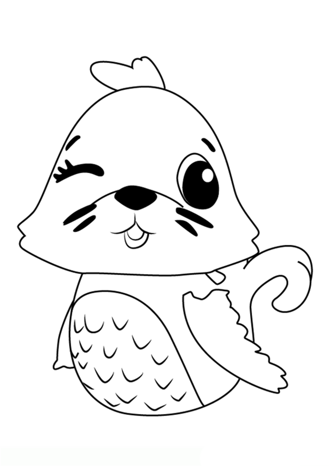 Hatchimals Seal Coloring Pages