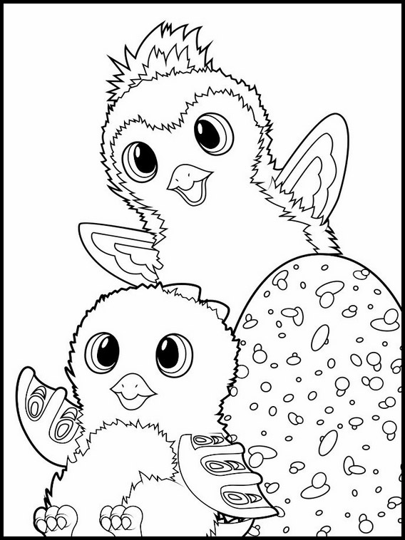 Hatching Hatchimals Coloring Pages