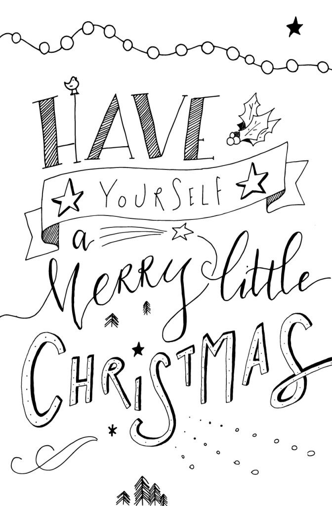 Merry Christmas Coloring Page Printables – Coloring.rocks!