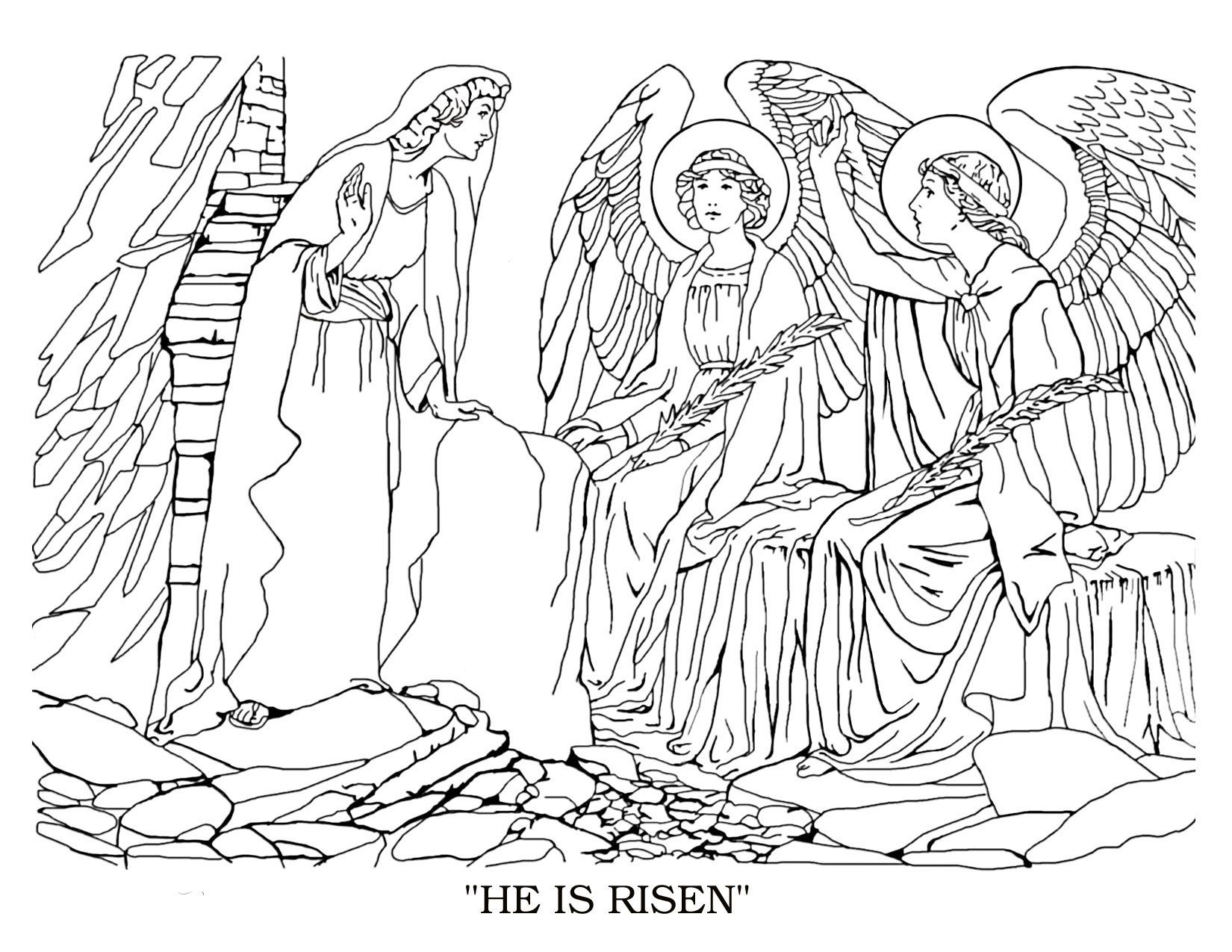 He is Risen - Christian Bible Coloring Pages